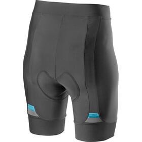 Castelli Prima Shorts Mujer, dark grey/celeste